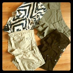 Bundle of womens shorts